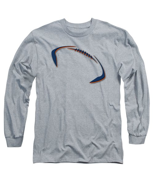Long Sleeve T-Shirt featuring the photograph Denver Broncos Football Shirt by Joe Hamilton