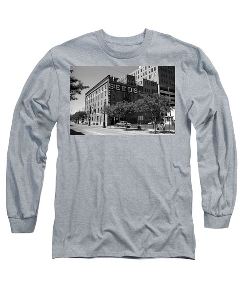 Denver Downtown Warehouse Bw Long Sleeve T-Shirt by Frank Romeo