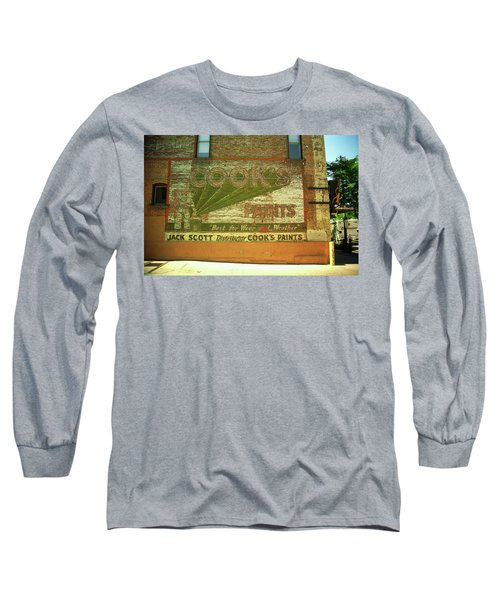 Long Sleeve T-Shirt featuring the photograph Denver Ghost Mural by Frank Romeo
