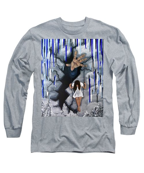 Long Sleeve T-Shirt featuring the painting Depression by Teresa Wing