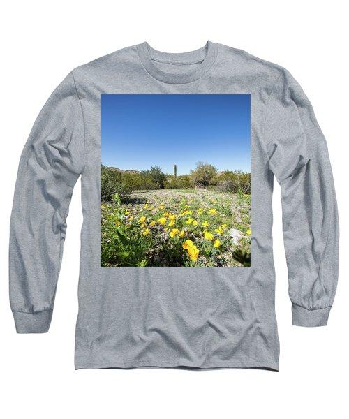 Desert Flowers And Cactus Long Sleeve T-Shirt