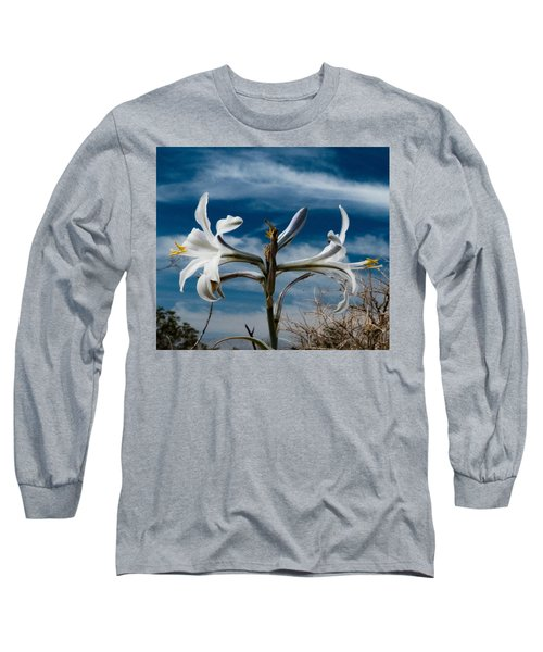 Long Sleeve T-Shirt featuring the photograph Desert Lilly Close Up by Jeremy McKay