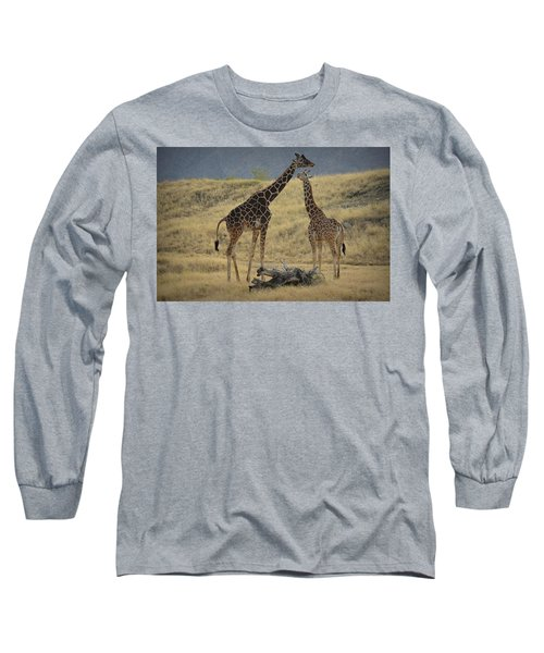 Desert Palm Giraffe Long Sleeve T-Shirt