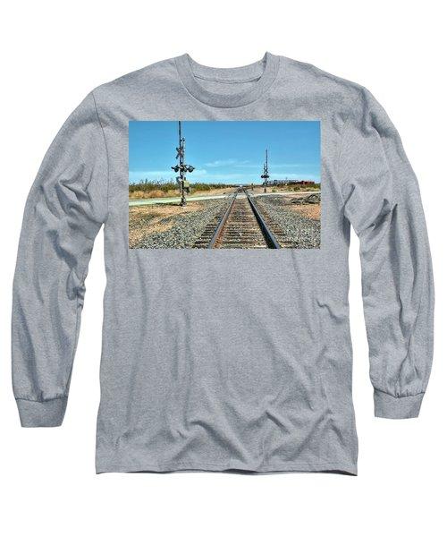 Desert Railway Crossing Long Sleeve T-Shirt