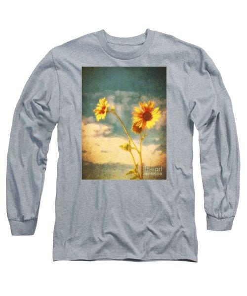 Long Sleeve T-Shirt featuring the photograph Desert Sunflower  ... by Chuck Caramella