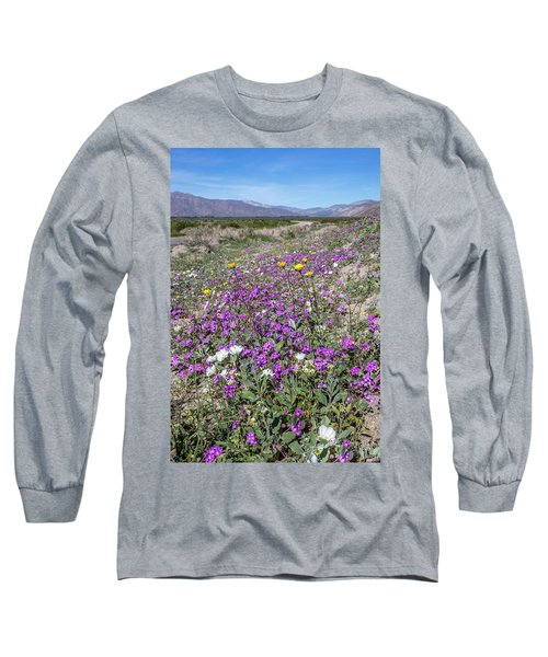 Long Sleeve T-Shirt featuring the photograph Desert Super Bloom by Peter Tellone