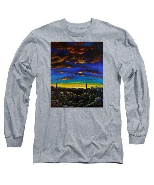 Desert View Long Sleeve T-Shirt by Lance Headlee