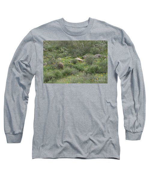 Long Sleeve T-Shirt featuring the photograph Desert Wildflowers by Anne Rodkin