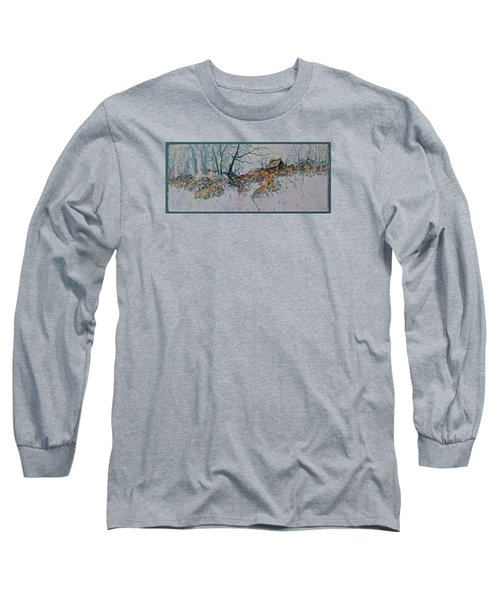Long Sleeve T-Shirt featuring the painting Deserted Clearing by Carolyn Rosenberger
