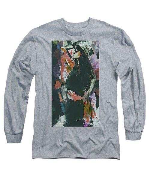 Destinations Abstract Portrait Long Sleeve T-Shirt