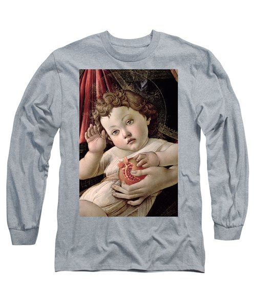 Detail Of The Christ Child From The Madonna Of The Pomegranate  Long Sleeve T-Shirt
