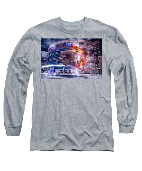 Long Sleeve T-Shirt featuring the photograph Detroit Lions At Ford Field 2 by Nicholas Grunas