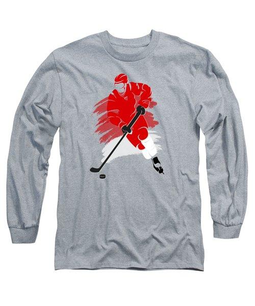 Detroit Red Wings Player Shirt Long Sleeve T-Shirt by Joe Hamilton