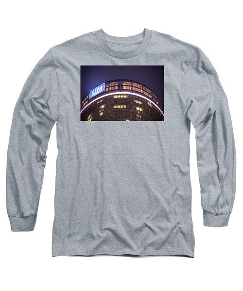Long Sleeve T-Shirt featuring the photograph Detroit Renaissance Center by Nicholas  Grunas