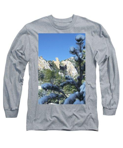 Devil's Thumb In Winter Long Sleeve T-Shirt