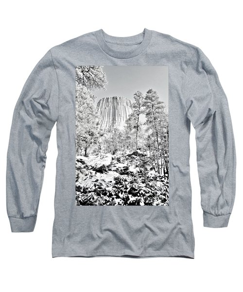 Devils Tower Wyoming Long Sleeve T-Shirt