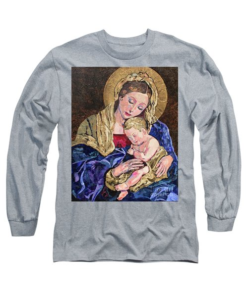 Long Sleeve T-Shirt featuring the mixed media Devine Intervention by Pat Craft