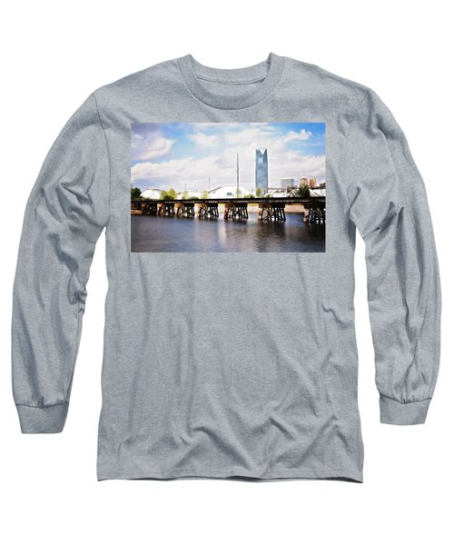Long Sleeve T-Shirt featuring the photograph Devon Tower by Lana Trussell