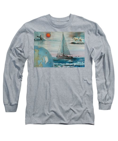 Ireland Canada Links..'' Northabout '' Rounding The North West Passage Long Sleeve T-Shirt