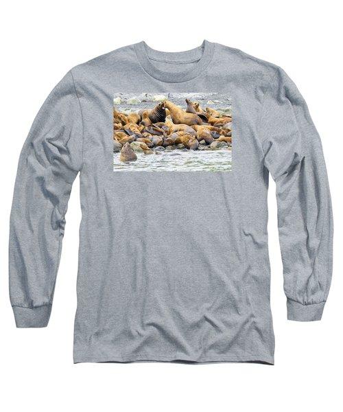 Disagreement Long Sleeve T-Shirt by Harold Piskiel