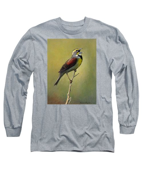 Dickcissel Summer Song Long Sleeve T-Shirt