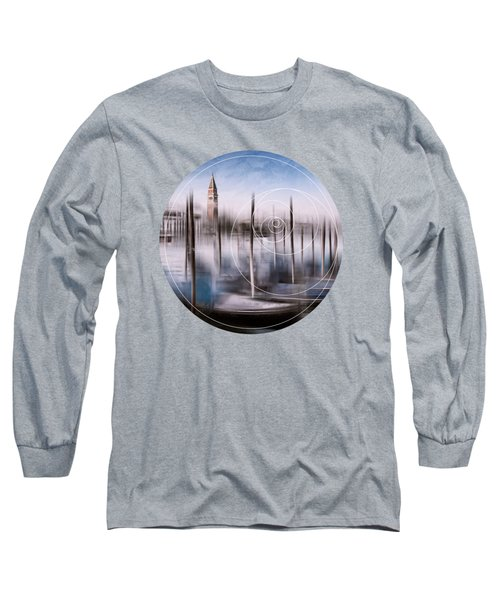 Digital-art Venice Grand Canal And St Mark's Campanile Long Sleeve T-Shirt by Melanie Viola