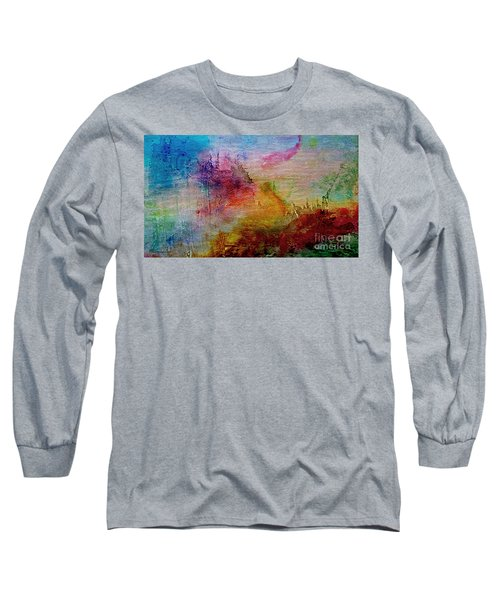 1a Abstract Expressionism Digital Painting Long Sleeve T-Shirt