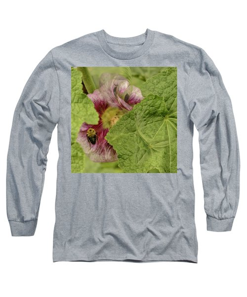 Dimensions Of Bees_flowers Long Sleeve T-Shirt