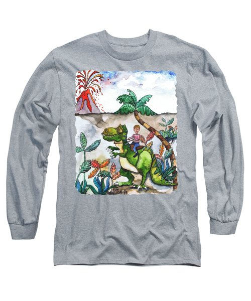Dinosaur Rider Long Sleeve T-Shirt