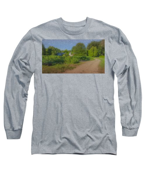 Dirt Road At Langwater Farm Long Sleeve T-Shirt