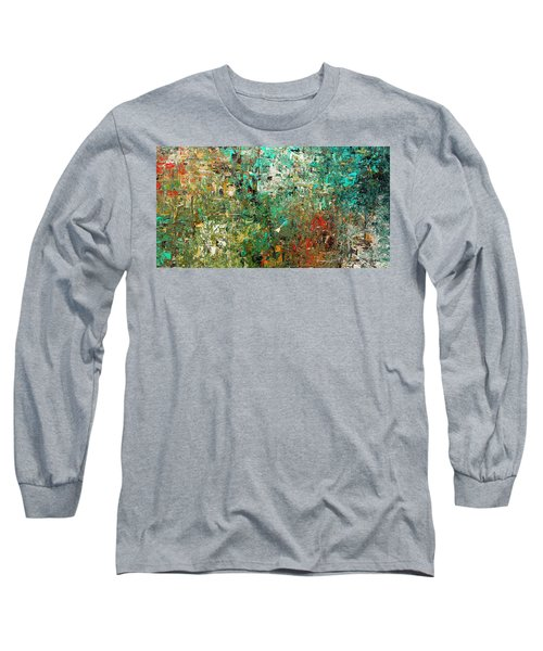 Long Sleeve T-Shirt featuring the painting Discovery - Abstract Art by Carmen Guedez