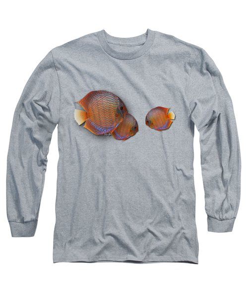 Discus In Eel Grass Long Sleeve T-Shirt