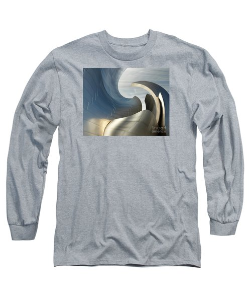 Disney Concert Hall Swirl Long Sleeve T-Shirt by Cheryl Del Toro