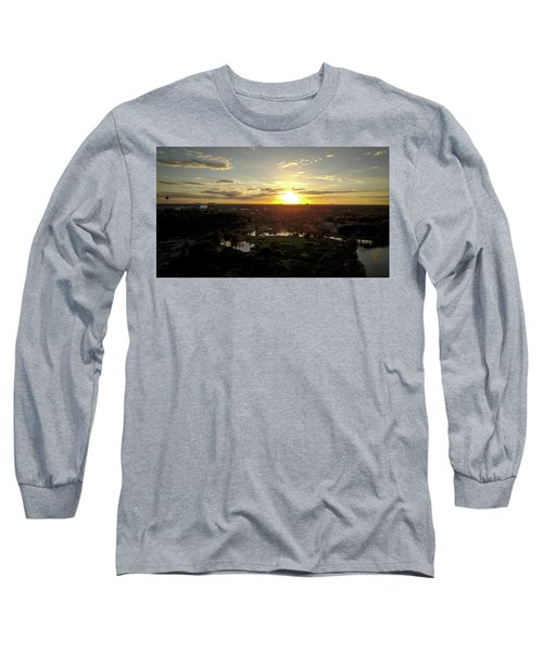 Long Sleeve T-Shirt featuring the photograph Disney Sunset by Michael Albright