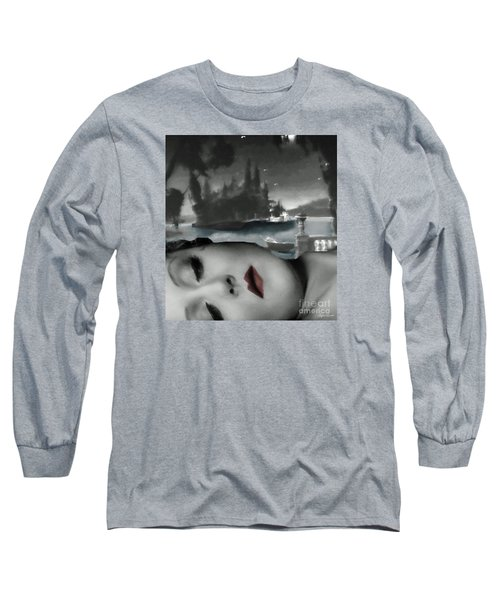 Long Sleeve T-Shirt featuring the digital art Distant Dreams by Lyric Lucas