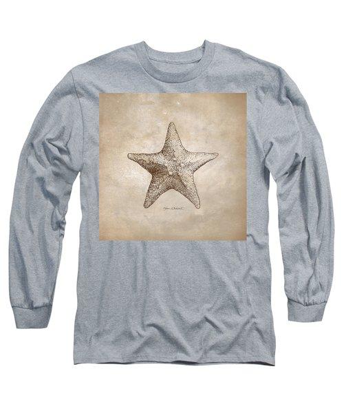 Distressed Antique Nautical Starfish Long Sleeve T-Shirt