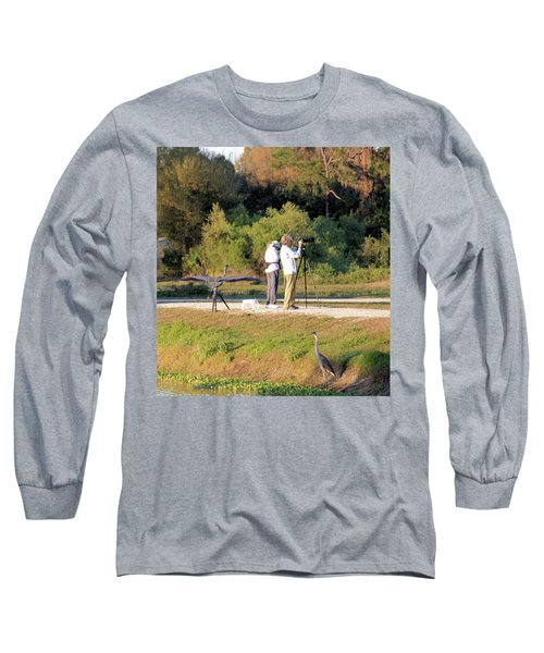 Long Sleeve T-Shirt featuring the photograph Do You See Any Birds? by Rosalie Scanlon