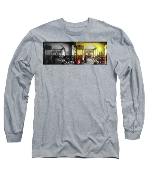 Long Sleeve T-Shirt featuring the photograph Doctor - Physical Therapist - Welcome To The A Traction 1918 - Side By Side by Mike Savad