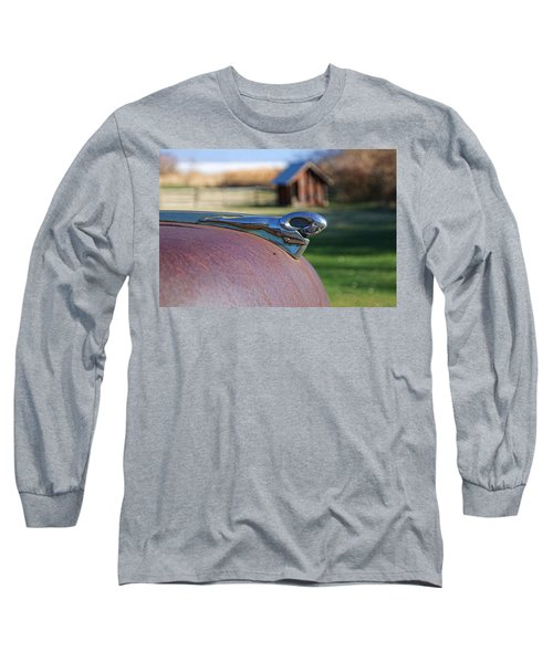 Long Sleeve T-Shirt featuring the photograph Dodge Emblem by Ely Arsha