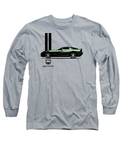 Dodge Viper Snake Green Long Sleeve T-Shirt by Mark Rogan