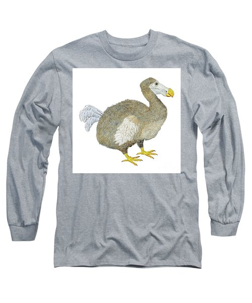 Long Sleeve T-Shirt featuring the painting Dodo Bird Protrait by Thom Glace