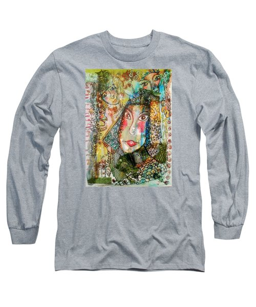 Doe Eyed Girl And Her Spirit Guides Long Sleeve T-Shirt by Mimulux patricia no No