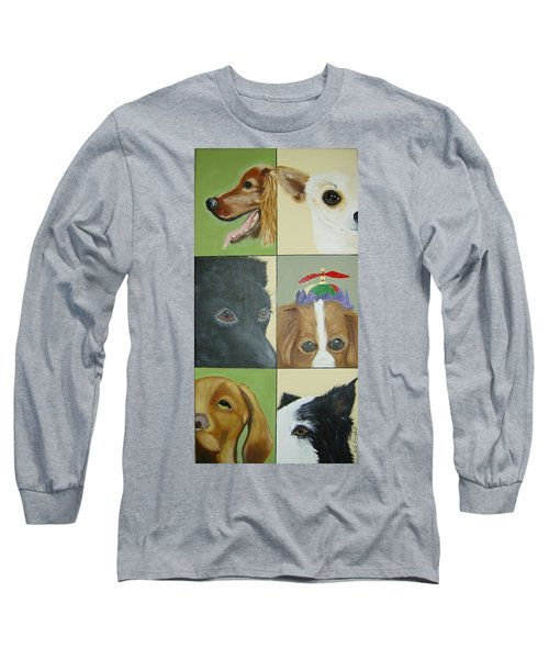 Dog Faces Of Love Long Sleeve T-Shirt