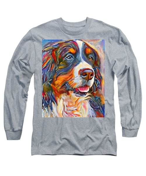 Dog In Colors Long Sleeve T-Shirt