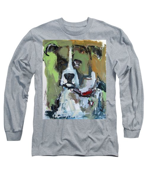 Long Sleeve T-Shirt featuring the painting Dog Portrait by Robert Joyner
