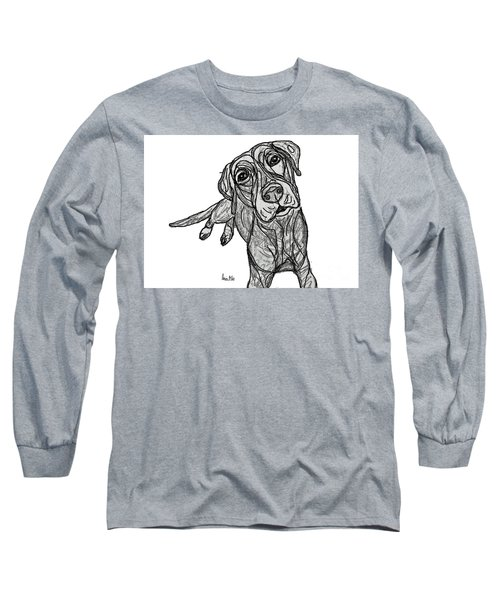 Dog Sketch In Charcoal 10 Long Sleeve T-Shirt
