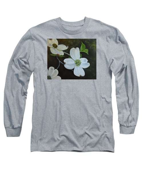 Long Sleeve T-Shirt featuring the painting Dogwood Dream by Sandra Nardone