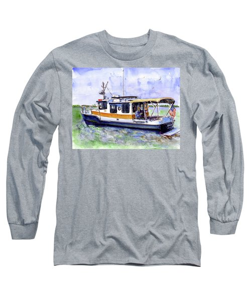 Don And Kathys Boat Long Sleeve T-Shirt by John D Benson