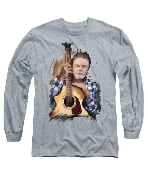 Don Henley Long Sleeve T-Shirt by Melanie D