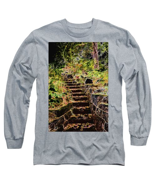Don't Be Afraid Long Sleeve T-Shirt by Carol Crisafi